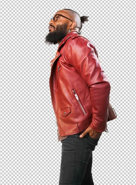Black man on white Premium Psd
