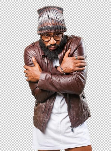 Black man with cold Premium Psd
