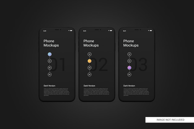 Black mobile phone screen mockup Premium Psd
