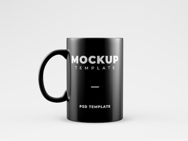 Black mug mockup template Free Psd
