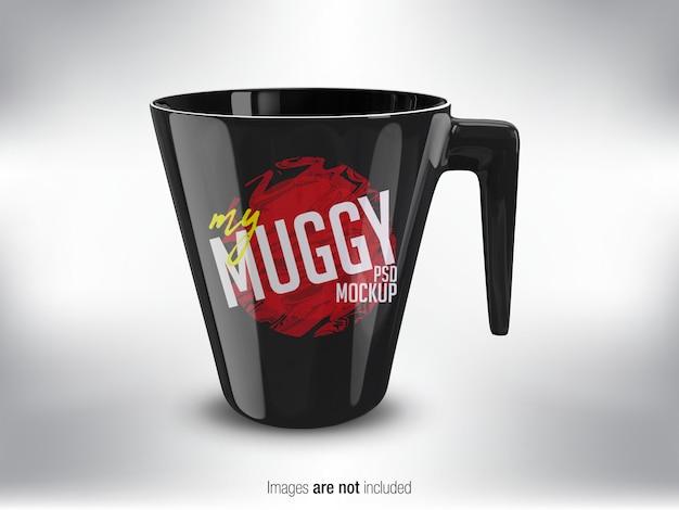 Black mug psd mock-up Premium Psd
