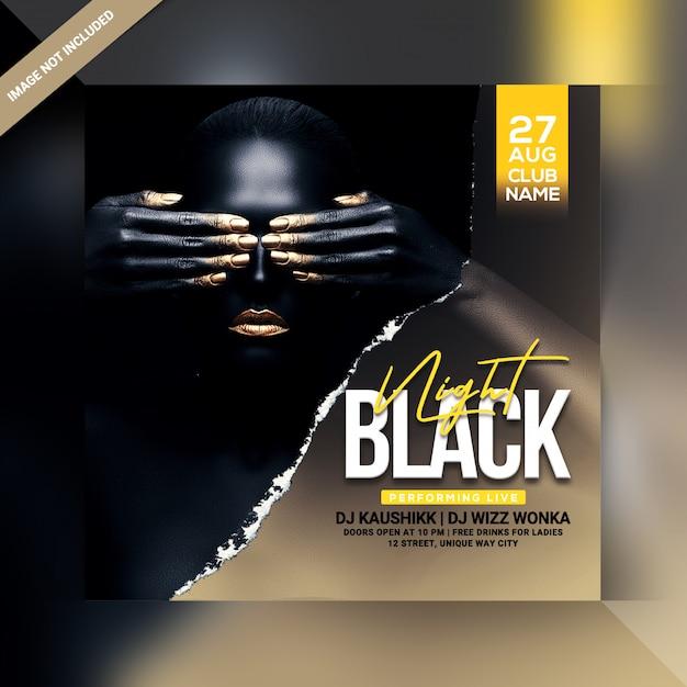 Black night party flyer Premium Psd
