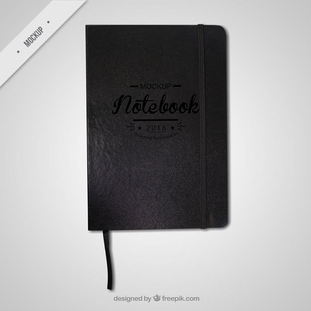 Black notebook mockup PSD file | Free Download