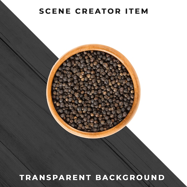 Black pepper isolated with clipping path. Premium Psd