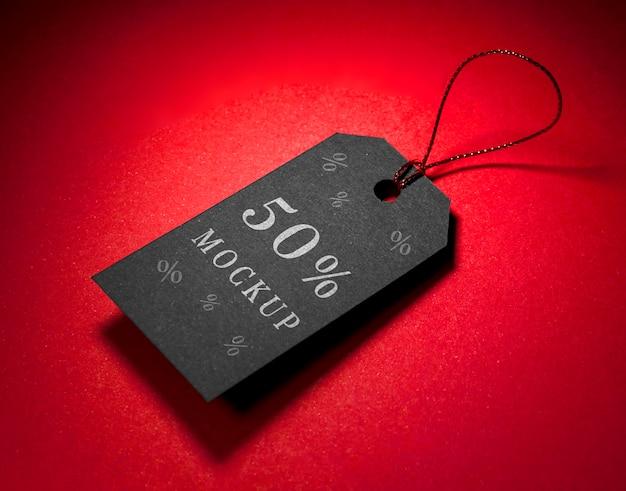 Черный ценник с резьбой макет распродажи черной пятницы Бесплатные Psd