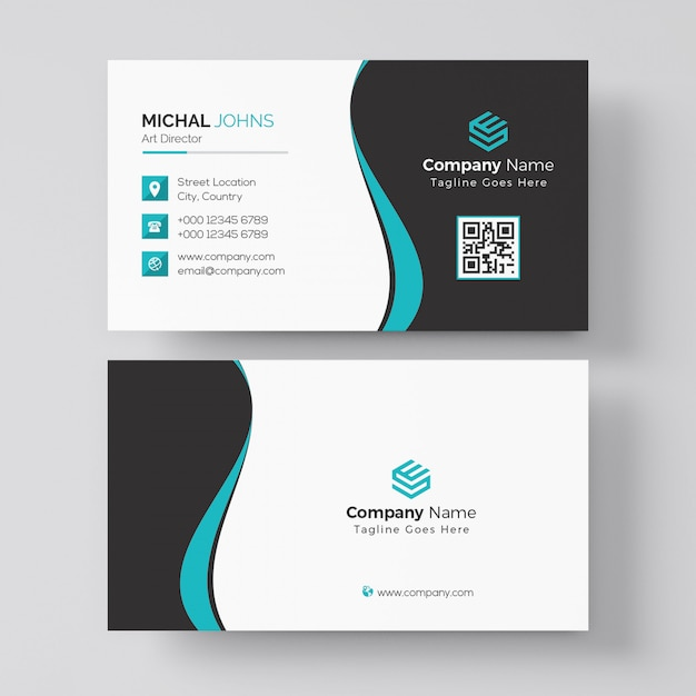 Black And Red Business Card Template Psd File Premium Download