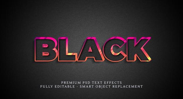 검은 색 텍스트 스타일 효과, 텍스트 효과 프리미엄 PSD 파일