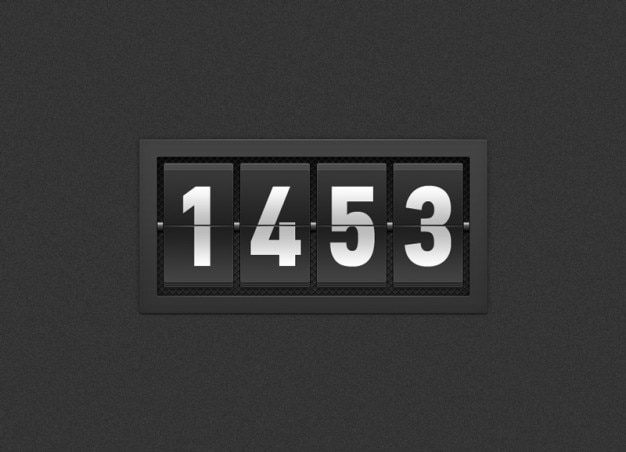 Black timer with numbers Free Psd