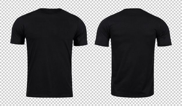 Black tshirts mockup front and back Premium Psd