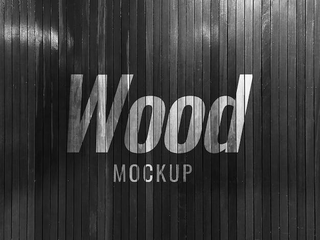 Черная стена макет текстуры древесины реалистично Premium Psd