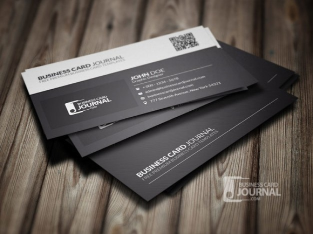 Black And White Business Card Template Psd File Free Download