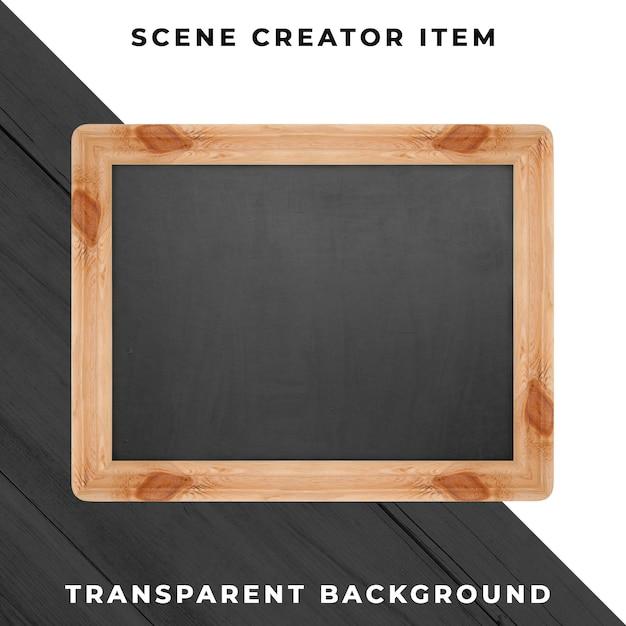Blackboard object transparent psd Premium Psd