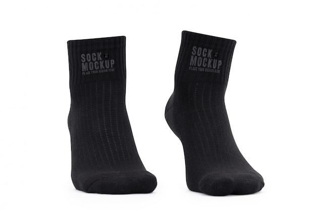 あなたのデザインの空白の黒い靴下モックアップテンプレート Premium Psd