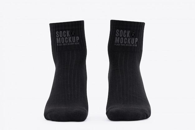 Blank black socks mockup Premium Psd