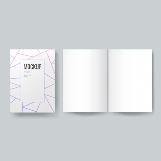 Blank book or magazine template mockup Free Psd