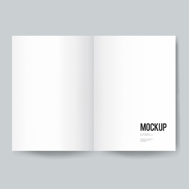 Blank Book Or Magazine Template Mockup Psd File Free Download