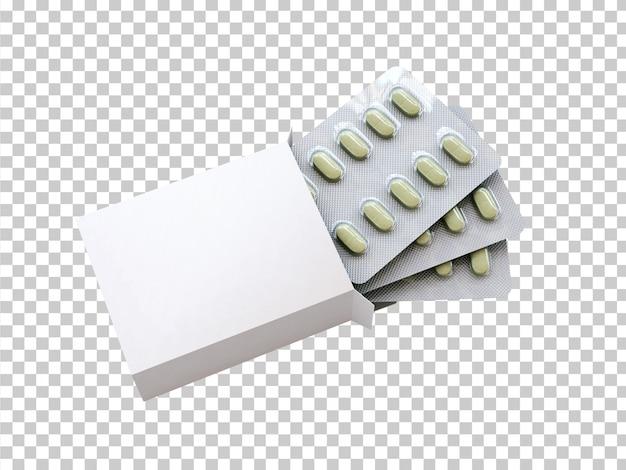 Scatola vuota con blister di droga Psd Gratuite