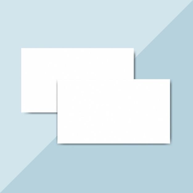 空白の名刺デザインモックアップベクトル 無料 Psd
