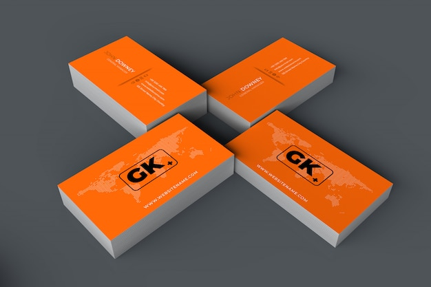 Blank business card mockup Premium Psd
