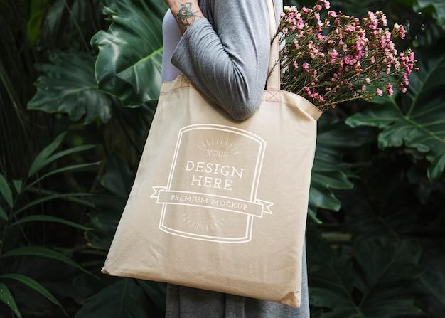 Blank canvas bag Premium Psd