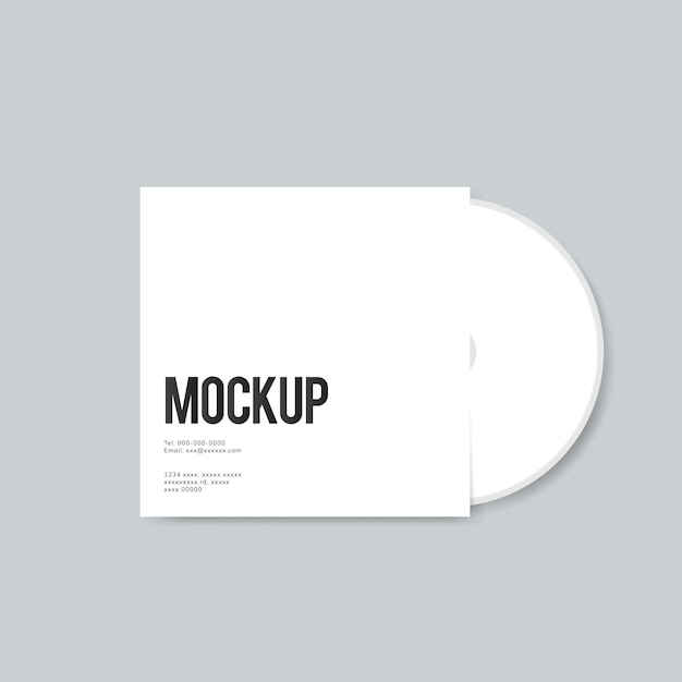 Blank cd cover design mockup Free Psd
