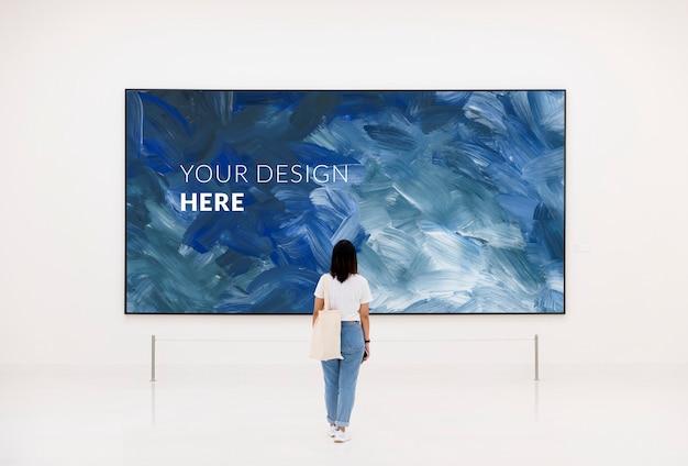 Blank framed artwork Premium Psd