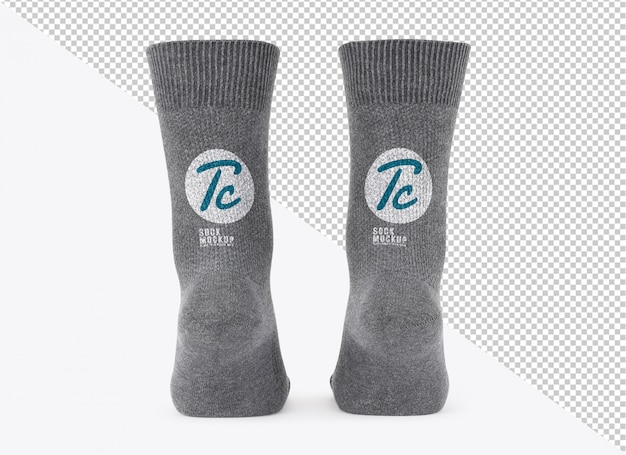 Blank grey socks mockup template for your design Premium Psd
