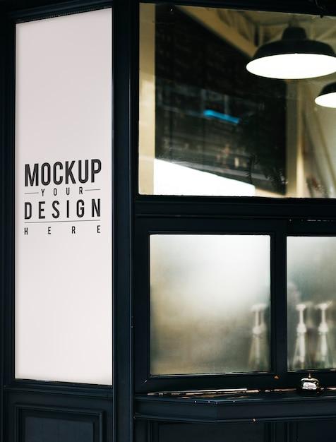 Blank minimal shop sign mockup Free Psd