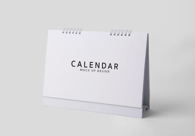 Пустой макет календаря шаблон на белом фоне psd. Premium Psd