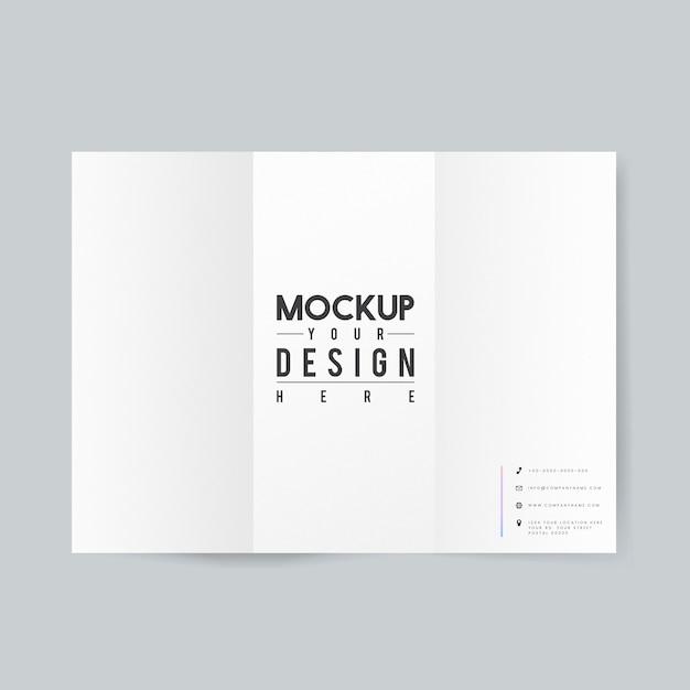 Blank paper brochure template mockup Free Psd