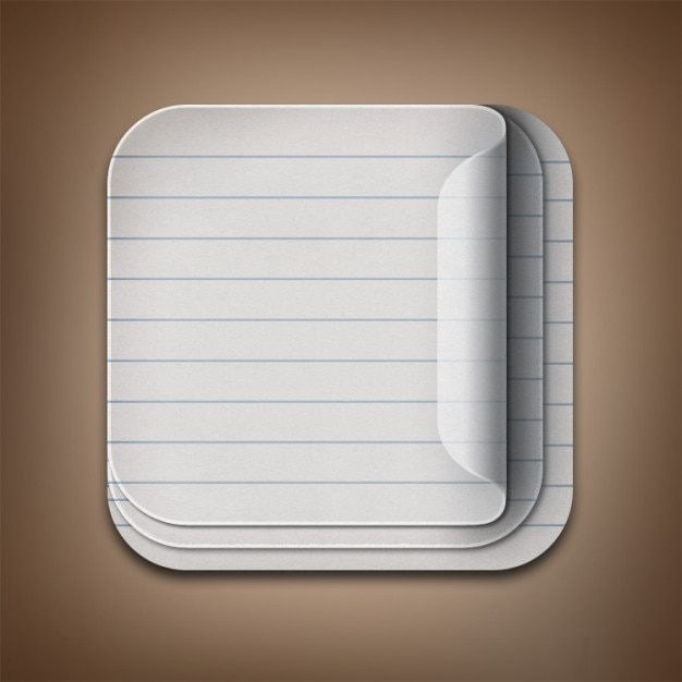 Blank paper note icon PSD Free Psd