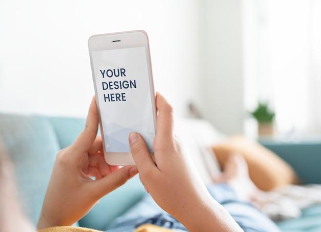 Пустой экран телефона Premium Psd