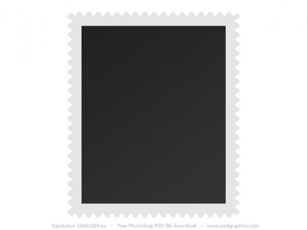 Blank postage stamp Free Psd