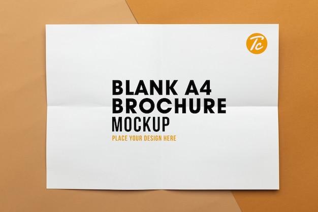 空白のポスターパンフレットa4サイズのモックアップ Premium Psd