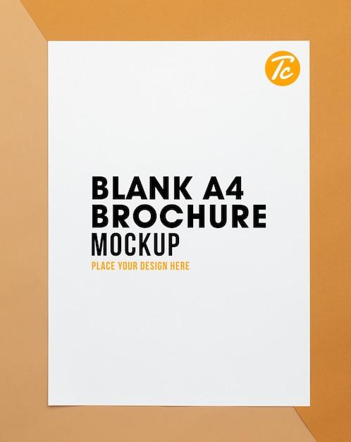 빈 포스터 브로셔 A4 크기 모형 프리미엄 PSD 파일