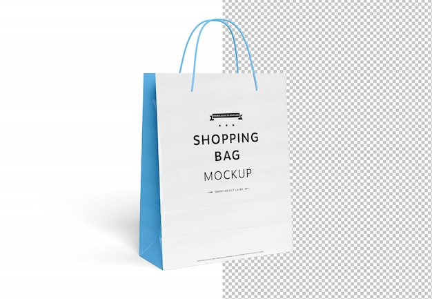 Blank Shopping Bag Mockup Cut Out On White Premium Psd File