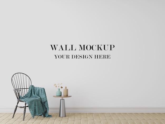 Blank wall mockup 3d visualization Premium Psd