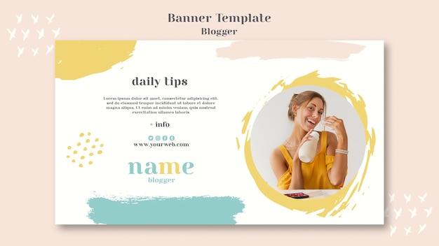 Stile di banner concetto di blogger Psd Gratuite