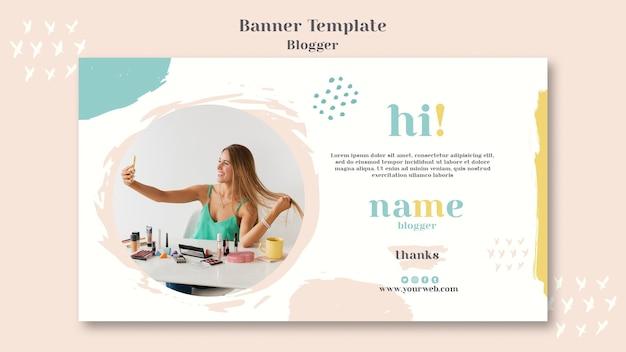 Modello di banner concetto di blogger Psd Gratuite