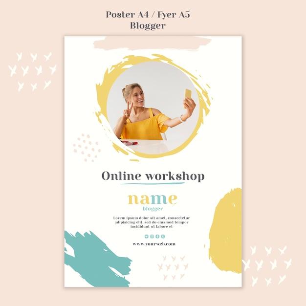 Stile di blogger concept poster Psd Gratuite