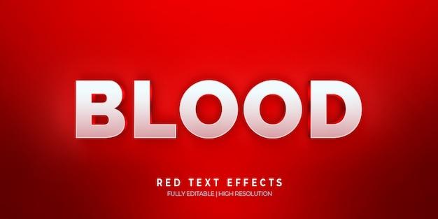 血3 dテキストスタイル効果赤 Premium Psd