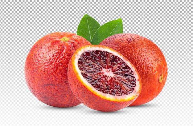 分離されたブラッドオレンジ Premium Psd