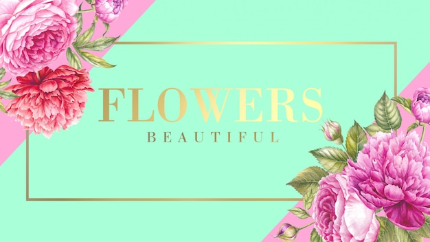 Blooming rose flower illustration. Premium Psd
