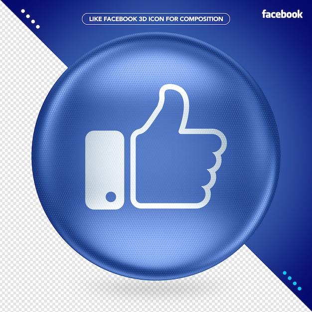 Blue 3d ellipse like facebook Premium Psd