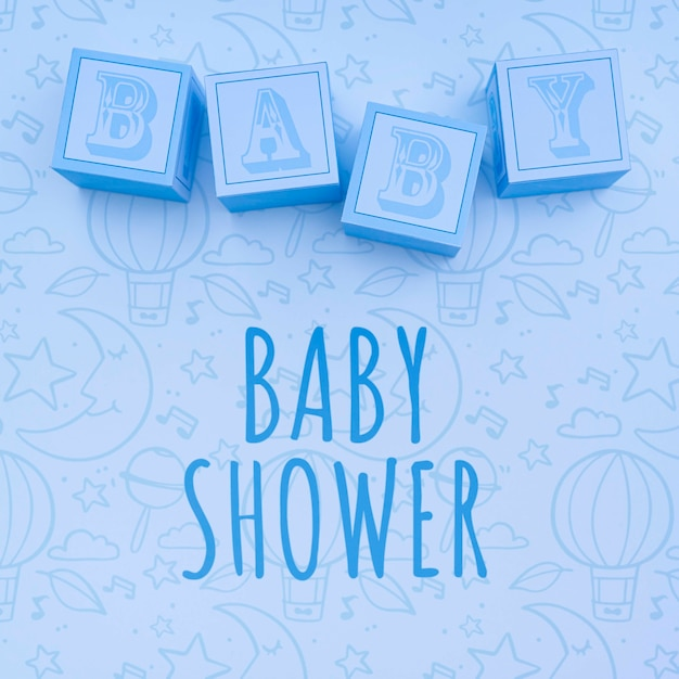 Blue baby showers decor Free Psd