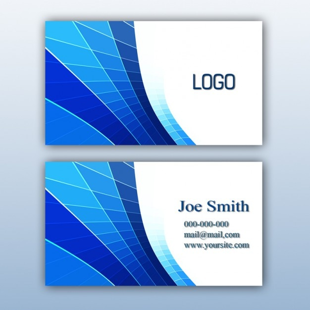 Blue business card design free psd