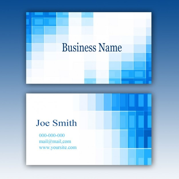 Blue Business Card Template PSD File Free Download - Calling card template free download