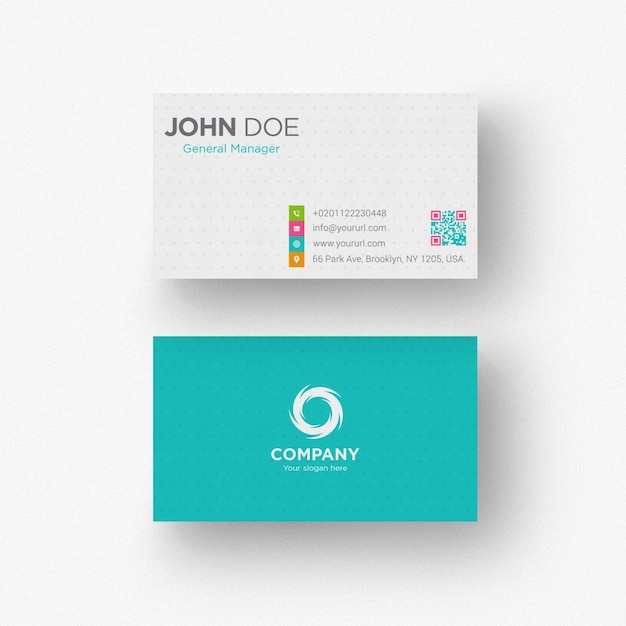Blue business card Free Psd