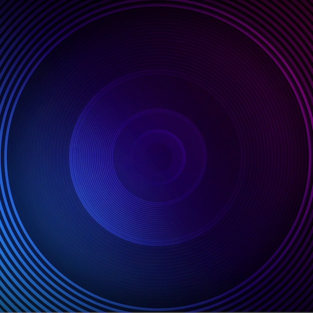 Blue circle background Free Psd