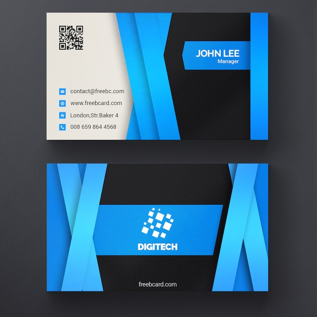 Blue corporate business card template psd file free download blue corporate business card template free psd reheart Images